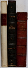 Books:Literature Pre-1900, Dante. Group of Three Books in Leather Bindings. 1867-1903. Variouseditions. Good or better condition.... (Total: 3 Items)