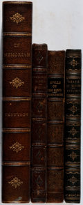 Books:Literature Pre-1900, Lord Alfred Tennyson. Group of Four Books in LeatherBindings. 1862-1897. Most with elaborate tooling and emboss...(Total: 4 Items)