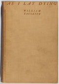 Books:Literature 1900-up, William Faulkner. As I Lay Dying. Jonathan Cape: Harrison Smith,1930. First printing, later state. No jacket. Soiling and w...