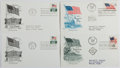Books:Non-fiction, [First Day Covers]. Group of Four Related to the American Flag. 1959-1970. Fine....