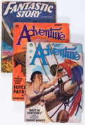Pulps:Adventure, Adventure/Fantastic Story Group (Various, 1934-52) Condition: Average VG.... (Total: 3 Items)