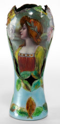 Decorative Arts, French:Other , A FRENCH ENAMELED COPPER VASE . 20th century. Marks: DORVAL.7 inches high (17.8 cm). ...