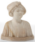 Paintings, AN ITALIAN MARBLE BUST . Circa 1900. Marks: A. Gennay . 6-3/8 inches high (16.1 cm). ...
