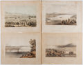 Books:Prints & Leaves, Lot of Four Tinted Plates From 1856 War Department Railroad Survey.From Report on the Topographical Features and Characte...