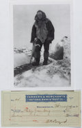 Autographs:Celebrities, Richard E. Byrd (1888-1957, American Aviator and Polar Explorer).Signed Personal Check. Very good....