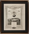 Miscellaneous:Ephemera, Commemorative Menu Honoring Charles Lindbergh, July 28, 1927....