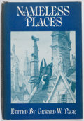 Books:Horror & Supernatural, Gerald W. Page [editor]. Nameless Places. Arkham House,1975. First edition, first printing. Spine sunned. Minor...