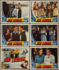 """Ski Patrol (Universal, 1940). Title Lobby Card and Lobby Cards (5) (11"""" X 14""""). War. ... (Total: 7 Items)"""