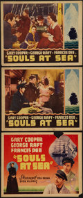 "Movie Posters:Adventure, Souls at Sea (Paramount, 1937). Other Company Title Lobby Cards (2)and Lobby Cards (3) (11"" X 14""). Adventure.. ... (Total: 5 Items)"