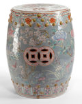 Asian:Chinese, A CHINESE CERAMIC GARDEN SEAT . 20th century . 18-1/4 inches high x12 inches diameter (46.4 x 30.5 cm). ...