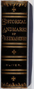 Books:Americana & American History, George Oliver. The Historical Landmarks and Other Evidences ofFreemasonry. Macoy, 1908. Later edition. Toning. ...
