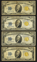 Small Size:World War II Emergency Notes, Fr. 2309 $10 1934A North Africa Silver Certificates. Four Examples. Fine-Very Fine or Better.. ... (Total: 4 notes)