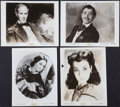 "Movie Posters:Academy Award Winners, Gone with the Wind (MGM, R-1954). Art Portrait Photos (4) (8"" X 10""). Academy Award Winners.. ... (Total: 4 Items)"