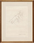 Fine Art - Work on Paper:Drawing, DONALD HARCOURT DE LUE (American, 1900-1988). Nude Sketches(3), 1930. Pencil on paper. 10-1/2 x 7-1/2 inches (26.7 x 19...(Total: 3 Items)