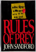 Books:Mystery & Detective Fiction, John Sandford. SIGNED. Rules of Prey. Putnam, 1989. Firstedition, first printing. Signed by the author. Minor t...