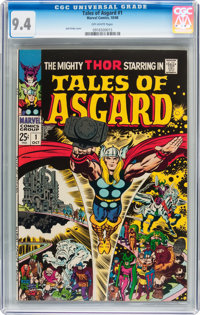 Tales of Asgard #1 (Marvel, 1968) CGC NM 9.4 Off-white pages