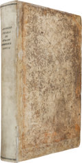 Books:Medicine, Andreas Vesalius. De humani corporis libri septem. [Basile: Johannes Oporinus, June, 1543]. First edition of what...