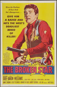 "The Broken Star (United Artists, 1956). One Sheet (27"" X 41"") and Lobby Card Set of 8 (11"" X 14'). Wester..."
