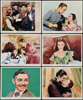 "Movie Posters:Academy Award Winners, Gone with the Wind (MGM, R-1961). Color Photos (6) (8"" X 10""). Academy Award Winners.. ... (Total: 6 Items)"