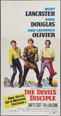 "Movie Posters:Comedy, The Devil's Disciple (United Artists, 1959). Three Sheet (41"" X 78""). Comedy.. ..."