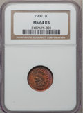 Indian Cents: , 1900 1C MS64 Red and Brown NGC. NGC Census: (354/204). PCGSPopulation (295/77). Mintage: 66,833,764. Numismedia Wsl. Price...