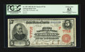 National Bank Notes:Alaska, Fairbanks, AK - $5 1902 Red Seal Fr. 587 First NB Ch. # (P)7718....