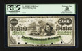 Large Size:Demand Notes, Fr. 202 $5000 1863 Interest Bearing Note Face Proof PCGS ApparentExtremely Fine 40, 4 POC Hessler UNL.. ...