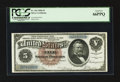 Large Size:Silver Certificates, Fr. 263 $5 1886 Silver Certificate PCGS Gem New 66PPQ.. ...