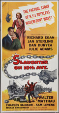 "Movie Posters:Crime, Slaughter on 10th Avenue (Universal International, 1957). ThreeSheet (41"" X 79""). Crime.. ..."