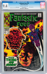 Fantastic Four #78 (Marvel, 1968) CGC NM 9.4 Off-white to white pages