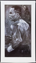 Boxing Collectibles:Autographs, Julio Cesar Chavez and Sugar Ray Leonard Signed Lithographs Lot of2. ...