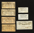 Confederate Notes:Group Lots, Confederate Bond Coupons. Seven Different Examples.. ... (Total: 7items)