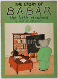 Books:Children's Books, Jean de Brunhoff. The Story of Babar. Whitman, 1933. Lateredition. Minor toning and rubbing. Cover pulling from...
