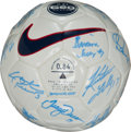 Miscellaneous Collectibles:General, 1999 United States Women's Team Signed Soccer Ball - World CupChampions....