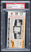 Baseball Collectibles:Tickets, 1958 Major League Baseball All Star Game Ticket Stub, PSAAuthentic....