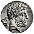 Ancients:Greek, Ancients: SPAIN. Osca (Bolskan). Ca. 150-72 BC. AR denarius (18mm,3.78 gm, 12h). ...
