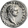 Ancients:Roman Imperial, Ancients: Titus (AD 79-81). AR denarius (17mm, 3.53 gm, 5h)....