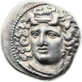 Ancients:Greek, Ancients: THESSALY. Larissa. Mid to late 4th century BC. AR drachm(19mm, 6.11 gm, 11h)....