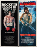 "Movie Posters:Action, First Blood and Other Lot (Orion, 1982). Inserts (2) (14"" X 36"").Action.. ... (Total: 2 Items)"