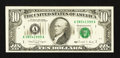 Error Notes:Ink Smears, Fr. 2029-A $10 1990 Federal Reserve Note. Extremely Fine.. ...