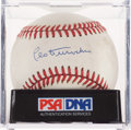 Baseball Collectibles:Balls, Leo Durocher Single Signed Baseball, PSA NM-MT 8. ...