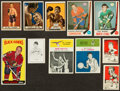 Baseball Cards:Lots, Diverse 1940's-60's baseball, basketball, Boxing and HockeyCollection (37) With Stars and '61 Fleer Pettit. ...