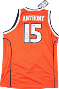 Basketball Collectibles:Uniforms, Carmelo Anthony Signed Syracuse Orangemen Jersey....