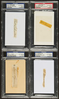 Baseball Collectibles:Others, New York Yankees Greats Signed Cut Signatures Lot of 4....