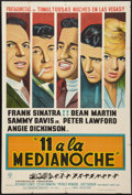 "Movie Posters:Crime, Ocean's 11 (Warner Brothers, 1960). Argentinean Poster (29"" X 43"").Crime.. ..."