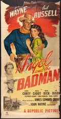 """Movie Posters:Western, Angel and the Badman (Republic, 1947). Three Sheet (38"""" X 76.75"""").Western.. ..."""