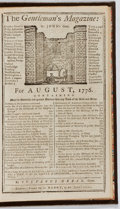 Books:Periodicals, Sylvanus Urban [editor]. The Gentleman's Magazine. August,1776. Henry, 1776. First edition, first printing. Min...