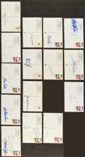 "Baseball Collectibles:Others, Baseball Notables Signed ""Roberto Clemente"" Hall of Fame PlaquePostcards Lot of 15...."