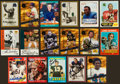 Football Cards:Singles (1970-Now), Football Legends Signed Cards Lot of 14....