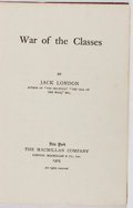 Books:Literature 1900-up, Jack London. War of the Classes. Macmillan, 1905. Firstedition, first printing. Slight lean. Foxing. Very good....